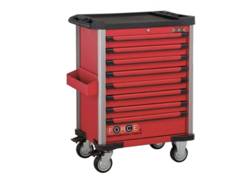 Force Red 8-drawer trolley with 326pc tools (EVA)