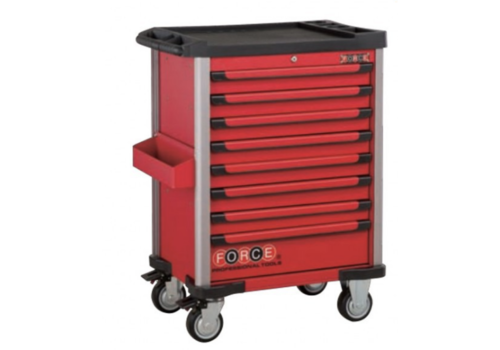 Force Red 8-drawer trolley with 415pc tools (EVA)