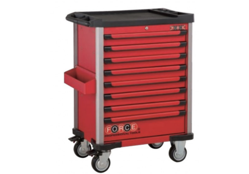 Force Red 8-drawer trolley with 512pc tools (EVA)