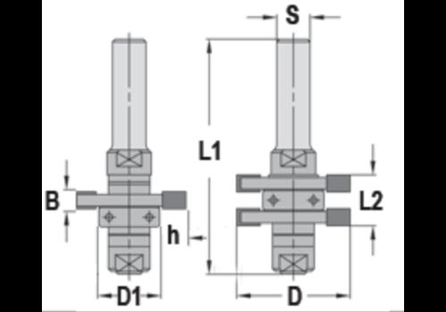 Trasco Groef & VeergarnituurHW Z=2 Met geleidelager