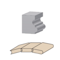 Multiprofielfrees concaaf/convexHW Z=2 Met geleidelager
