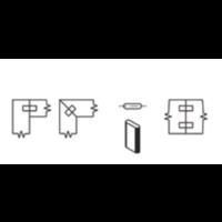 DeuvelfreesHW Z=2 T.b.v. Domino verbindingssysteem