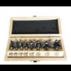 Trasco Frezen in houten kist  8-delig, schacht 8 mm