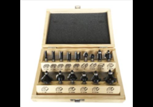 Trasco Frezen in houten kist  15-delig, schacht 8 mm