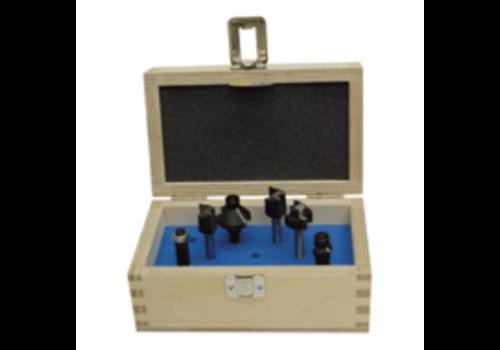 Trasco Frezen in houten kist  6-delig, schacht 8 mm