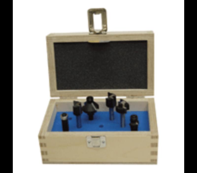 Frezen in houten kist  6-delig, schacht 8 mm