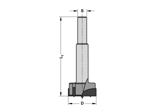 Trasco Cylinderkopboren zonder spanvlakHWZ=2/V=2 Met centreerpunt