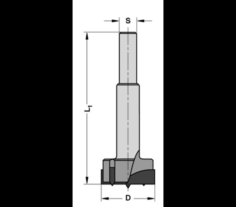 Cylinderkopboren zonder spanvlakHWZ=2/V=2 Met centreerpunt