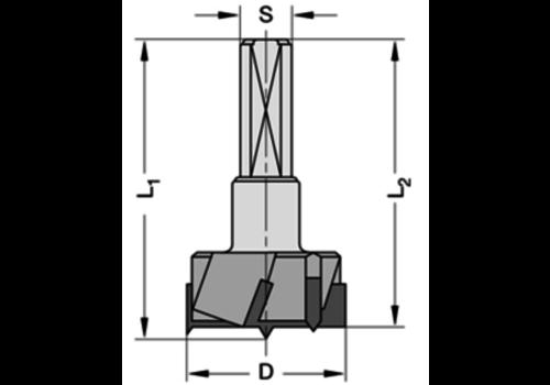 Trasco Cylinderkopboren met spanvlakHWZ=3/V=3 Schacht 10 mm, met centreerpunt