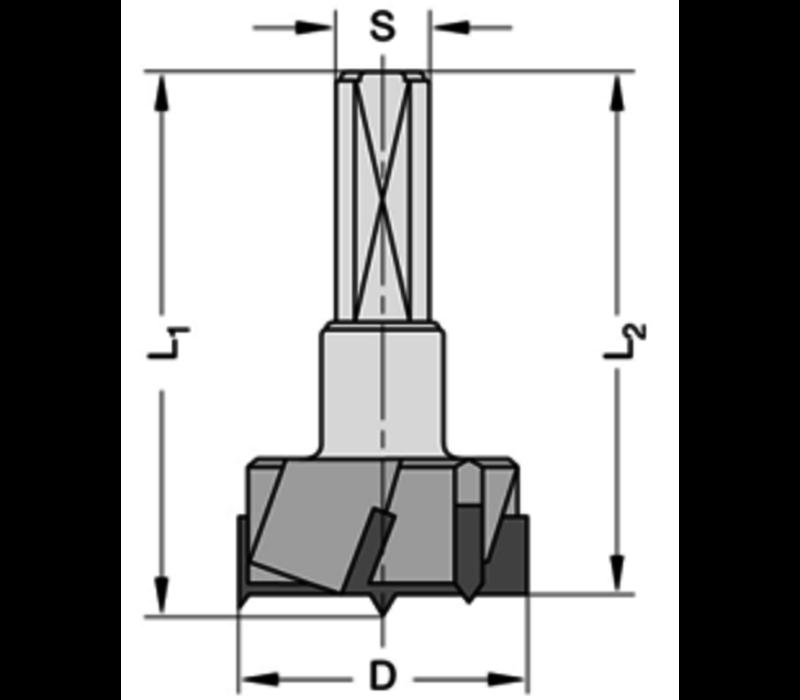 Cylinderkopboren met spanvlakHWZ=3/V=3 Schacht 10 mm, met centreerpunt