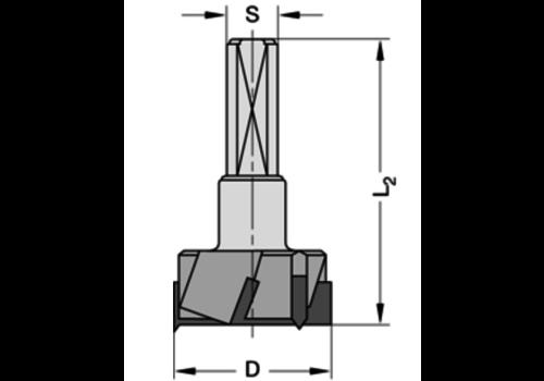 Trasco Cylinderkopboren met spanvlakHWZ=3/V=3 Schacht 10 mm, zonder centreerpunt