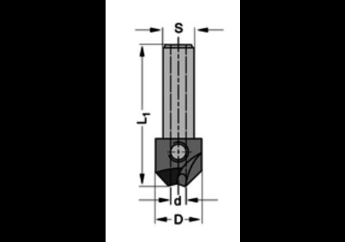 Trasco Verzinker 90°HWZ=2 Te gebruiken met cylindrische boren
