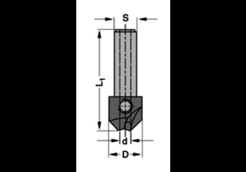 Trasco Verzinker 90°HSZ=2 Te gebruiken met cylindrische boren