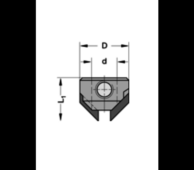 Opsteekverzinker 90°HWZ=2 Te gebruiken op boren met spiraalgeleiding