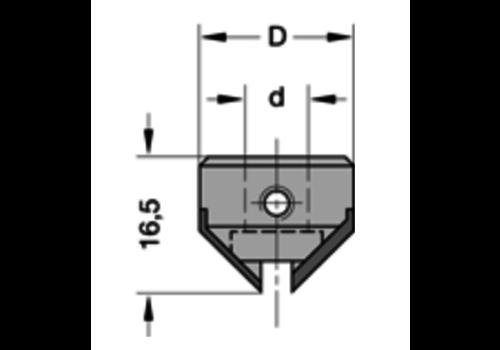 Trasco Opsteekverzinker 90°HWZ=2 Deze verzinkers worden op de schacht van de boor gemonteerd (zie drevelboren, type 30540)