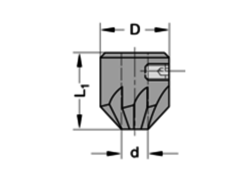 Trasco Opsteekverzinker 90°HSZ=6 Te gebruiken op cylindrische spiraalboren