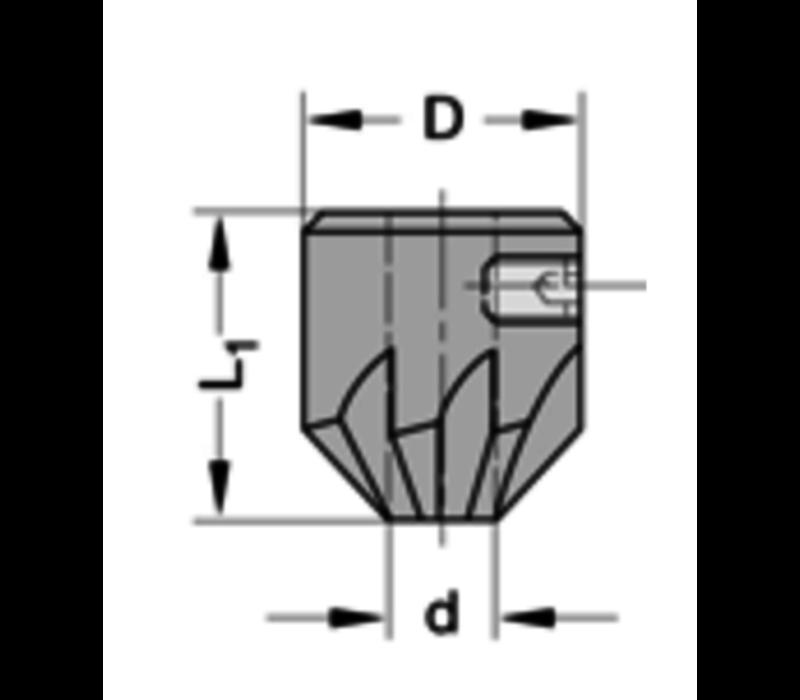 Opsteekverzinker 90°HSZ=6 Te gebruiken op cylindrische spiraalboren