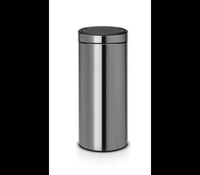 Brabantia Touch Bin Afvalverzamelaar 30 Liter.Brabantia Afvalverzamelaar 30l Matt Steel