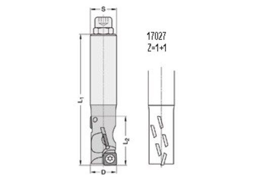 Trasco FOURCUT-Schrobfrezen DP Z=1+1 17027 met DP-keermessen