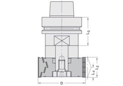 Trasco Diamant kanten/Sponningfrezen DP Z=2+2 41510 met cylindrisch gat (zonder freesdoorn)