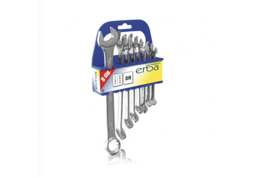 Erba Combination spanners 8pcs. 8-19mm