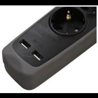 STEKKERDOOS 1,5 MTR 3-VOUDIG 2X USB