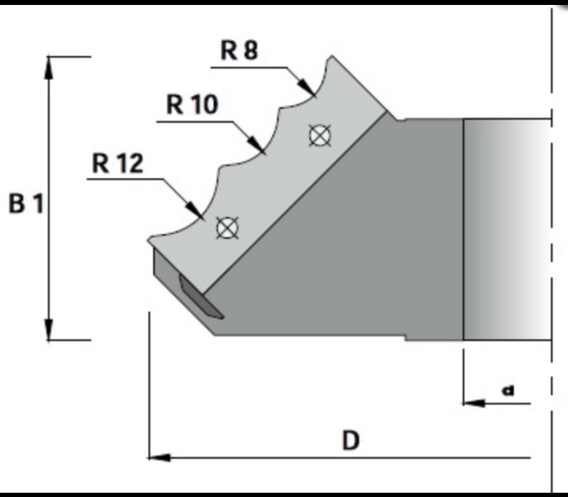 Afrondfrees multiprofiel K405-D