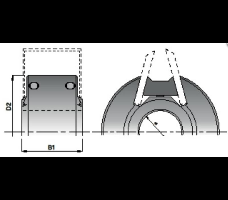 Messenkop rugvertand Z=2