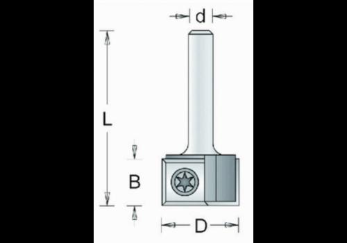 RVS tools HM Groeffrees met wisselmessen 12mm