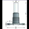 RVS tools HM Schijffrees verzonken schacht 12mm