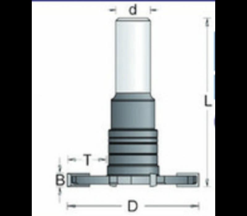 HM Schijffrees verzonken schacht 12mm