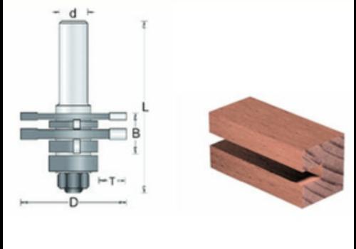 RVS tools HM Quadri Pen/Groeffreesset