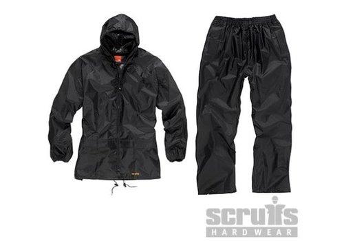 Scruffs Waterdicht pak, zwart, 2-delig