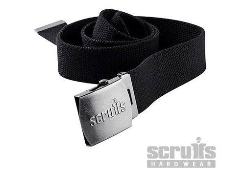 Scruffs Verstelbaar katoen riem met clipsluiting, zwart