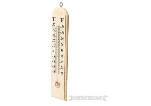 Silverline Hout thermometer, -40 °C tot +50 °C