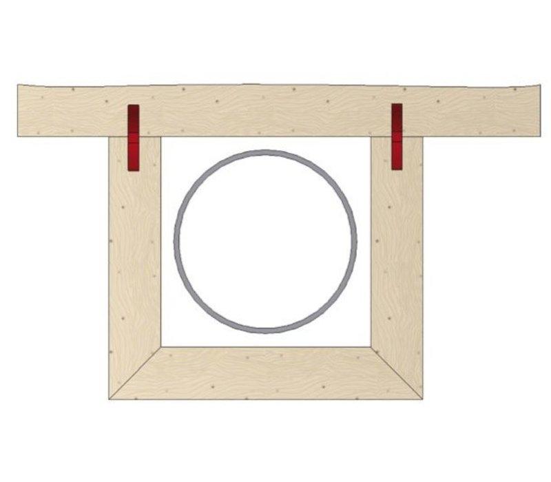 Metal Schuifverbinder om vast te schroeven Metal, 40 paar
