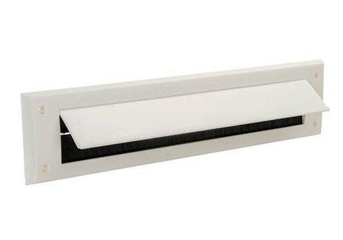 FIXMAN Brievenbusborstel met klep 338 x 78 mm, wit