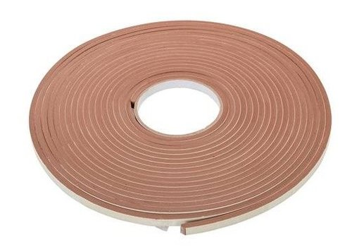 FIXMAN Zelfklevende E-profiel tochtstrip 3-5 mm / 15 m, bruin