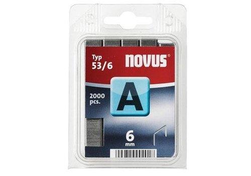 Novus Dundraad nieten A 53/6 mm, 2000 st.