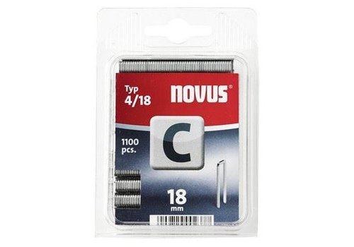 Novus Smalrug nieten C 4/18, 1100 st.