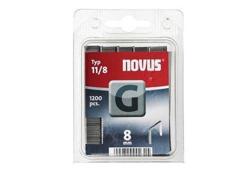 Novus Vlakdraad nieten G 11/8 mm, 1200 st.