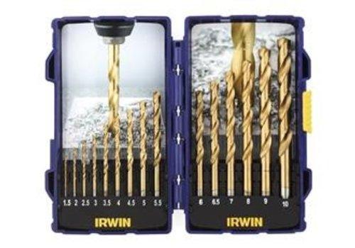 Irwin HSS Titanium borenset