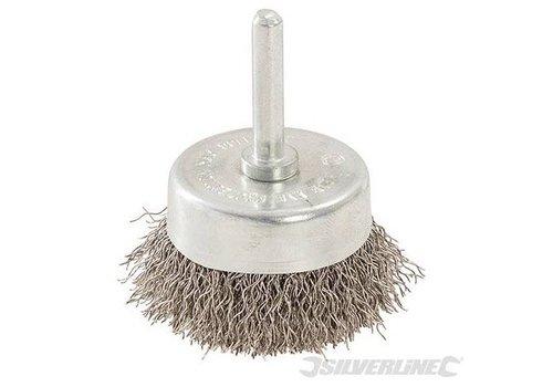 Silverline Roestvrijstaken komborstel met gegolfd staaldraad