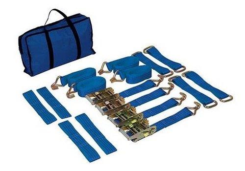 Silverline 3-delige autotransport sjorbanden set voor stalen en lichtmetalen velgen
