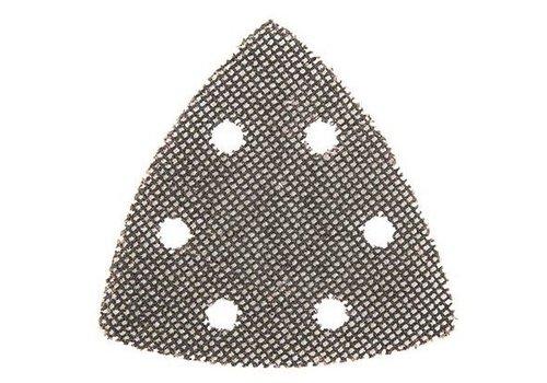Silverline Driehoekige klittenband gaas schuurvellen, 105 mm, 10 pk.