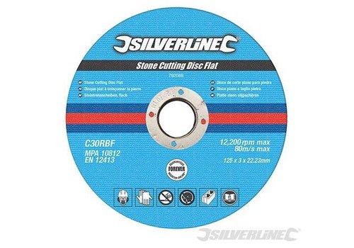 Silverline Platte steen snijschijven, 10 pk. 125mm