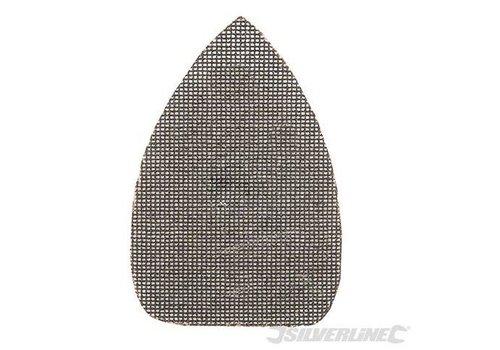 Silverline Driehoekige klittenband gaas schuurvellen, 150 x 100 mm, 10 pk.