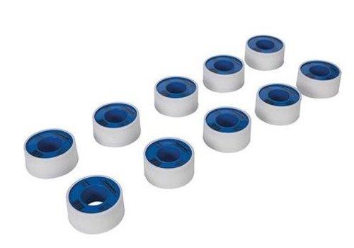 Silverline Witte PTFE schroefdraad tape, 10 pk. 19 mm x 12 m