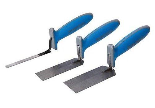Silverline 3-delige soft-grip pleistertroffel set