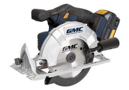 GMC 18 V accucirkelzaag, 165 mm
